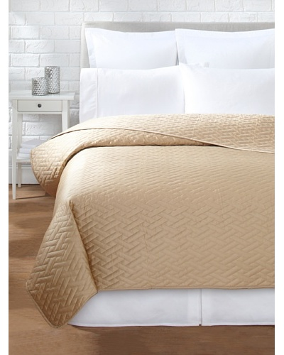 Sateen Quilted Coverlet, Mocha, Queen