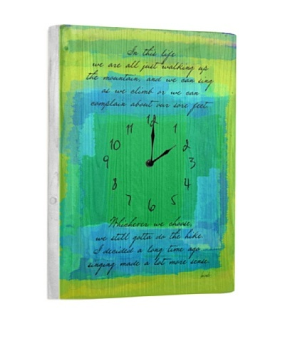 In This Life Reclaimed Wood Clock