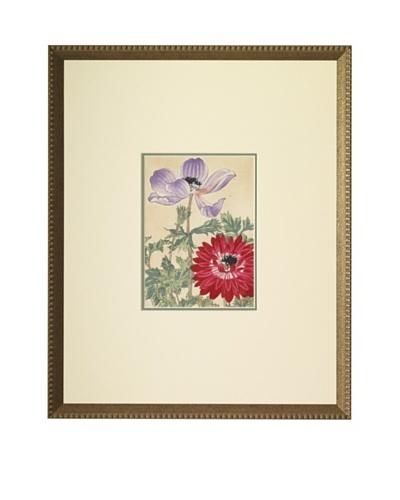 1918 Botanical Japanese Woodblock