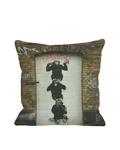 Banksy Monkey Business Pillow