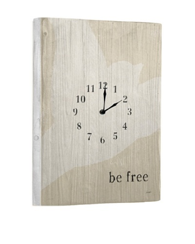 Be Free Reclaimed Wood Clock