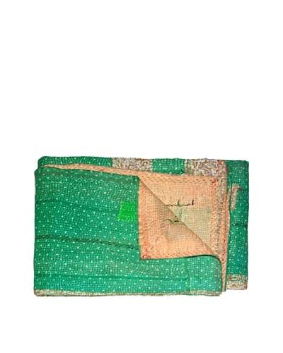 Vintage Kantha Throw, Multi