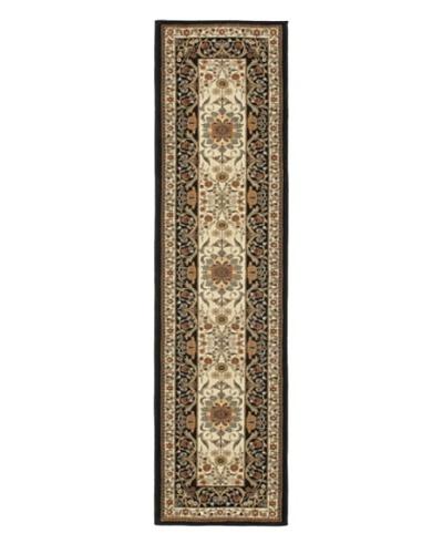 "Oriental Garden Rug, Gray, 2' x 7' 7"" Runner"