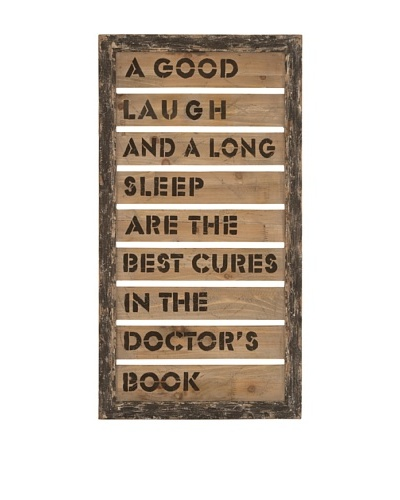 Inspirational Quote on Wooden Plank