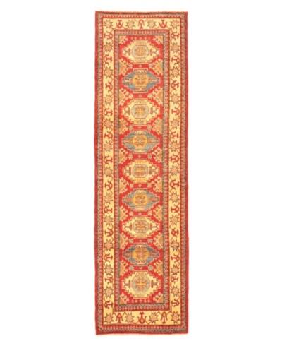 "Hand-knotted Uzbek Transitional Runner Wool Rug, Pink, 2' 9"" x 9' 9"" Runner"