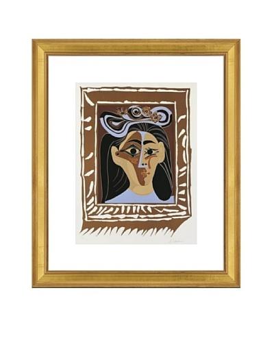 Pablo Picasso Jacqueline au Chapeau a Fleurs Framed Art
