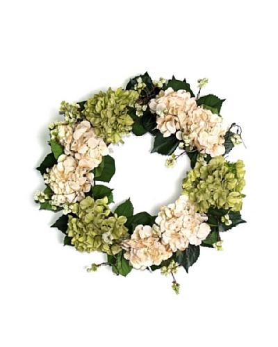 Hydrangea Wreath [Creme/Green]