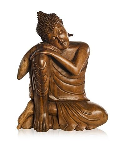 Sitting Buddha Statue, Brown
