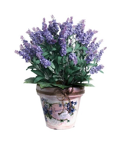 Lavender In Twine Pot [Lavender/Green]