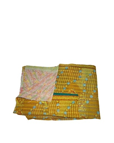 Vintage Karishma Kantha Throw, Multi, 60 x 90