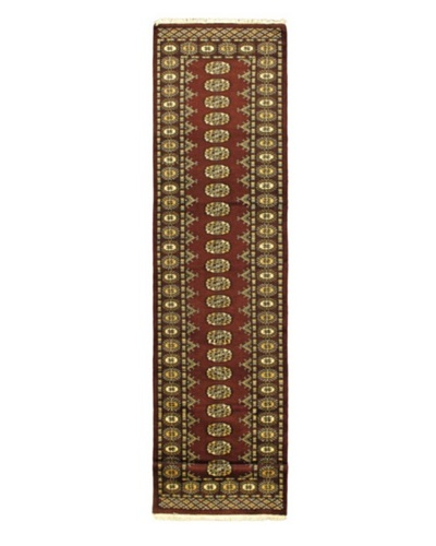 Hand-knotted Finest Peshawar Bokhara Traditional Runner Wool Rug, Dark Red, 2' 7 x 11' 1 Runner