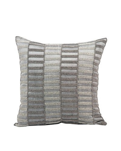 Joseph Abboud Stripe Pillow, Grey, 16 x 16