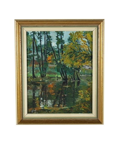 Pond Reflections Framed Artwork