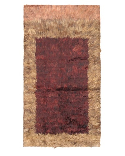 "Rabat Long Hair Modern Rug, Dull Red, 3' 7"" x 6' 7"""