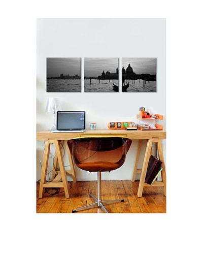 Venice Panoramic Giclée Canvas Print Triptych