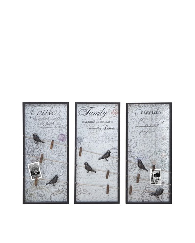 Set of 3 Birds Wall Panel