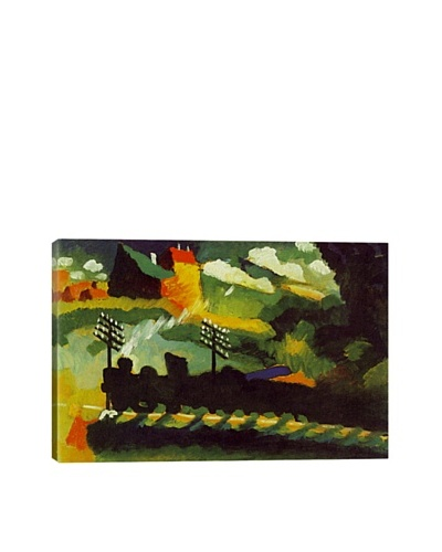 Wassily Kandinsky's Murnau View with Railway and Castle Giclée Canvas Print