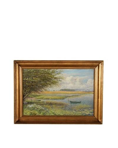 Rowboats, 1918 Framed Artwork