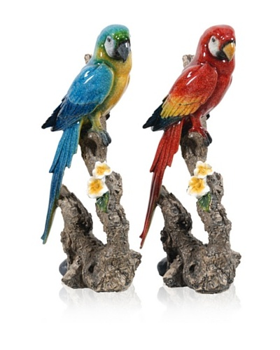 Set Of 2 Parrots [Multi]