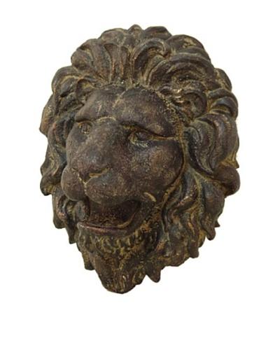 Lion Head Wall Décor, Dark Brown