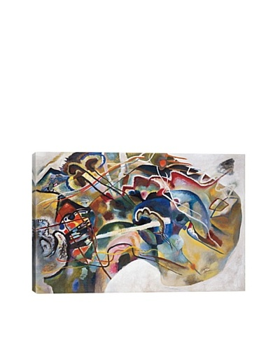Wassily Kandinsky's Painting with White Border Giclée Canvas Print