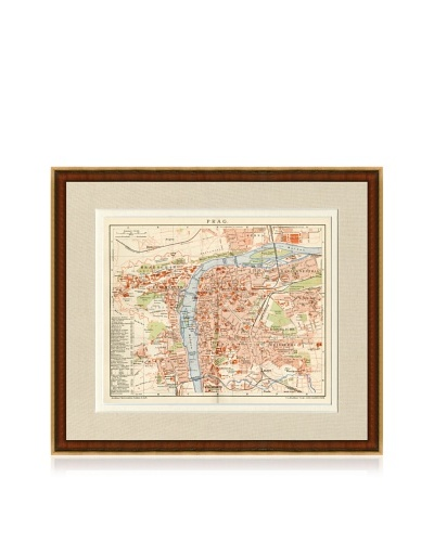 Antique Prague 1890's Map