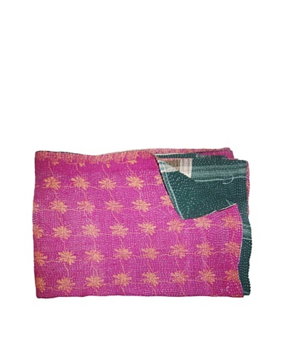 Vintage Kantha Throw, Multi, 60 x 75As You See