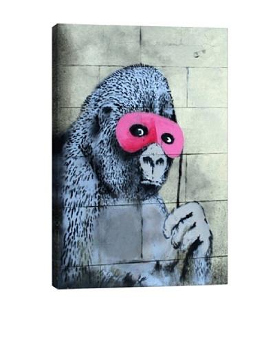 Banksy Gorilla Mask Pink Ape Monkey Canvas Print