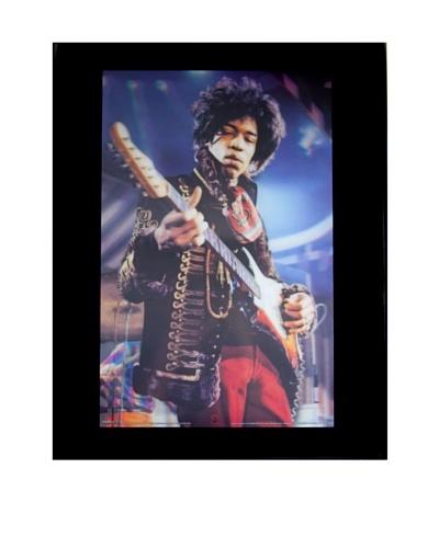Jimi Hendrix Framed 3-D Hologram Poster
