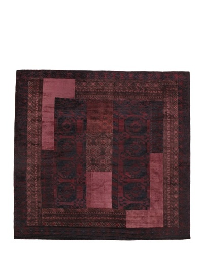 Vintage Patchwork Rug [Charcoal/Navy/Pink/Brown]