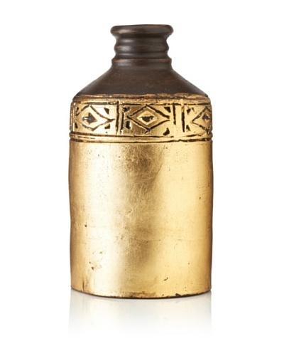 "UMA Terracotta Vase Two-Toned Vase, 11.25""As You See"