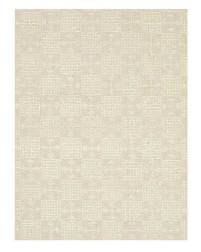 Handmade Impressions Braid Modern Wool Rug, Blue/Red/White, 4' 6 x 6' 7