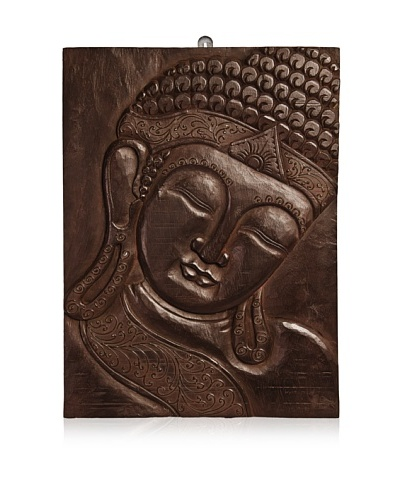 Buddha Wall Panel, Dark Brown