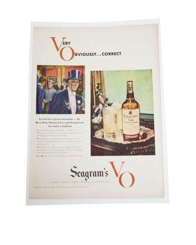 Vintage Circa 1940 Seagram's Whiskey V.O. Ad