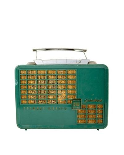 Vintage Stewart Warren Radio, Green