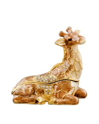 Handset Crystal Giraffe Mini Jewelry BoxAs You See