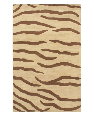 Handmade Trek Rug, Brown/Ivory, 5' x 8'