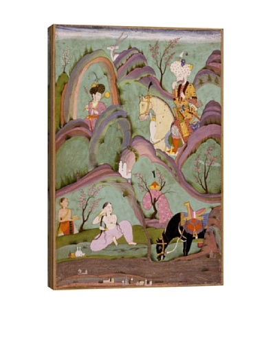 Khusraw Beholding Shirin Bathing Giclée Canvas Print