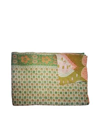 Vintage Kantha Throw, Multi, 60 x 75