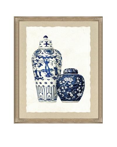 Double Vase Framed Giclée Print