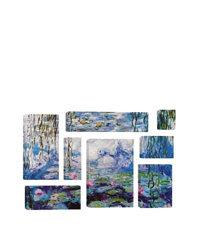 Claude Monet Nympheas 8-Piece Giclée Canvas Print