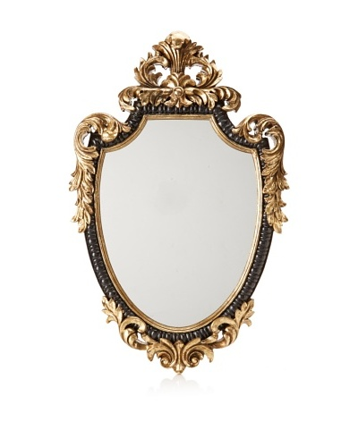 Baroque-Style Mirror, Black/Gold