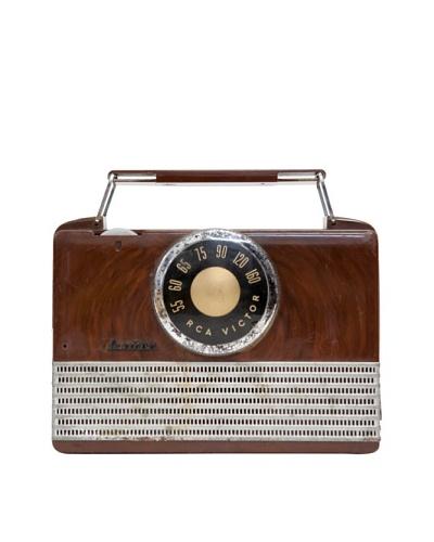 Vintage RCA Victor Radio, Brown, 2x7.5x7