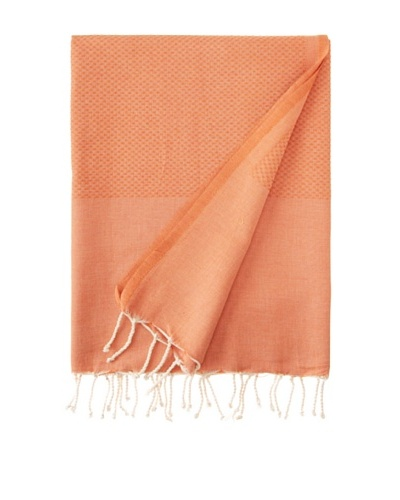 "Honeycomb Fouta Towel, Orange, 39"" x 79"""