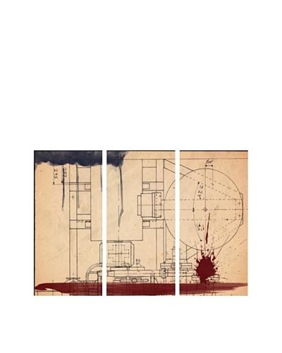 Oliver Gal Hatcher Triptych Canvas Art