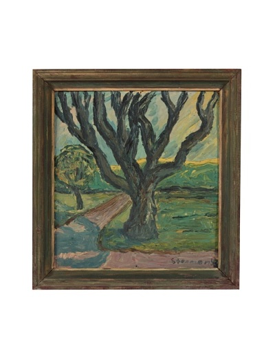 Fork In The Road Landscape, 1945 Framed Artwork