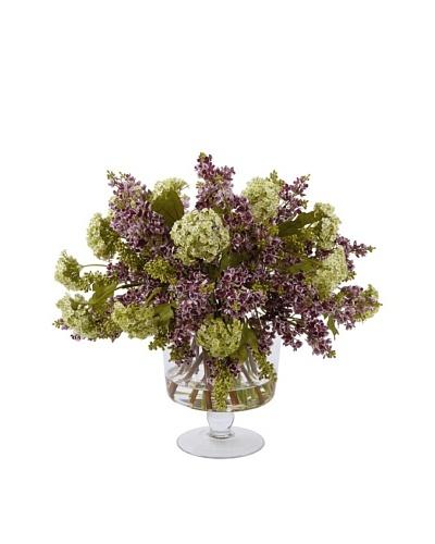 Lilacs in Glass Vase, Purple