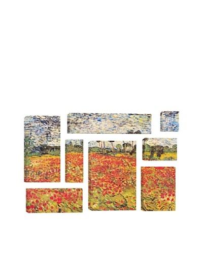 Vincent Van Gogh Field of Poppies 8-Piece Giclée Canvas Print
