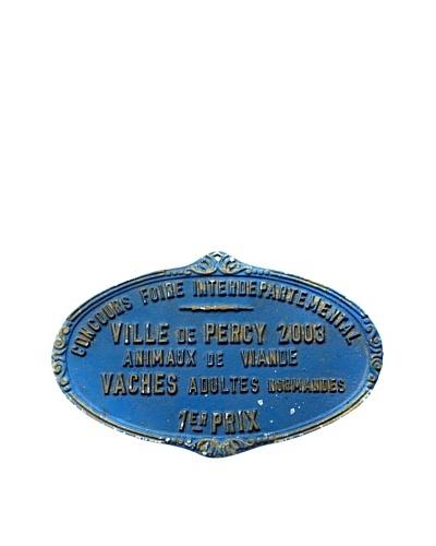 Steel French Sign Concours Foire Interpartemental Ville de Percy 2003 1er Prix