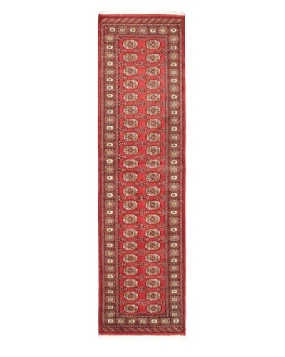 Hand-knotted Finest Peshawar Bokhara Traditional Runner Wool Rug, Red, 2' 7 x 9' 9 Runner